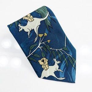 Other - New Koala Kangaroo Blue Men's Neck Tie
